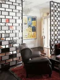 Glass Partition Between Living Room And Kitchen Room Dividers Decorative Screens Foyer Design And Glass Brick