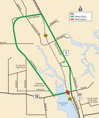 St Augustine Map State Road 16 Closing Just West Of U S 1 July 18 20 For Railroad