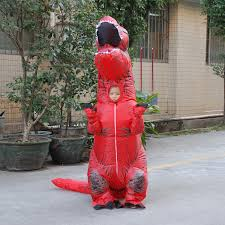 Rex Halloween Costumes Red Inflatable Kids Rex Dinosaur Halloween Costume Party