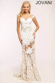 white prom dress by jovani this cap sleeve sheath gown is perfect