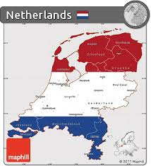 netherlands map flag free flag simple map of netherlands