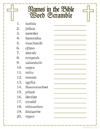 printable names in the bible word scramble