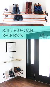 Shoe Rack by Diy Copper Shoe Rack How To