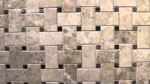 marble basketweave mosaic tile black dots 1x2 polished youtube