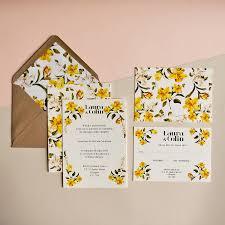 wedding invitations glasgow daffodil wedding invitation by malink notonthehighstreet