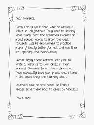 image result for teacher letter for parent journal quick writing