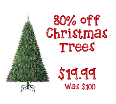sears up to 80 clearance trees 19 99