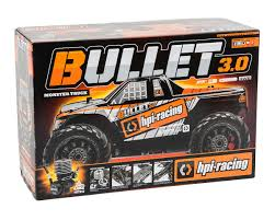 racing monster truck bullet mt 3 0 rtr 1 10 scale 4wd nitro monster truck by hpi racing
