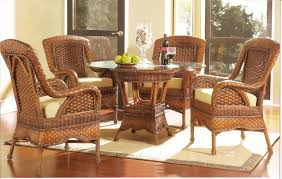 Round Dining Room Sets Friendly Atmosphere Wicker Furniture For A Friendly And Cool Natural Environment
