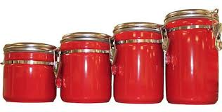 cheap kitchen canister sets kitchens red kitchen canister sets ceramic glass red with gold