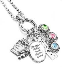 mothers necklaces with names and birthstones personalized mothers necklace name of children birthstone
