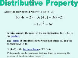 factoring using the distributive property ppt video online download