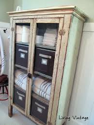 vintage bathroom storage ideas chippy cabinet we use for bathroom storage living vintage