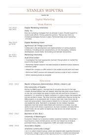 Mba Internship Resume Sample digital marketing intern resume samples visualcv resume samples