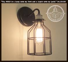 Edison Bulb Wall Sconce Industrial Wall Light Sconce With Edison Bulb The Lamp Goods