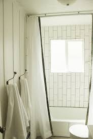 Curtains For Ceiling Tracks How To Install A Ceiling Mounted Shower Curtain