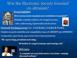 A Computer On Every Desk And In Every Home Is There A Place For Altruism In An Electronic Society