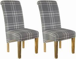 Uk Dining Chairs Buy Grey Tartan Dining Chair Pair Cfs Uk