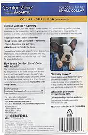 comfort zone with adaptil calming u0026 comfort adjustable dog collar