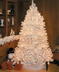 75 prelit white medium artificial tree clear