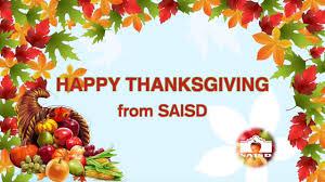 saisd thanksgiving greeting 2017