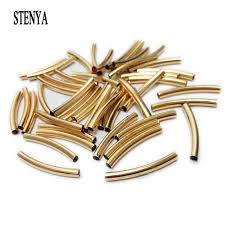 jewelry making necklace clasp images Stenya straight tube beads jewelry making leather cord rope metal jpg