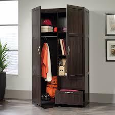 Janitorial Storage Cabinet Amazon Com Sauder Large Storage Cabinet Cinnamon Cherry Finish