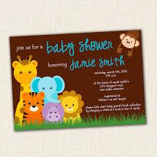 jungle theme baby shower invitations marialonghi com