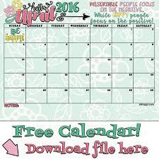 free printable planner calendar 2016 april 2016 calendar free printables inkhappi