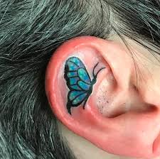 ear tattoos are the ink trend