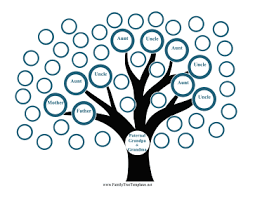 side family tree template