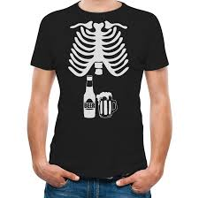 amazon com halloween skeleton beer belly xray funny men u0027s t shirt