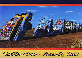 cadillac ranch carolina a postcard from cadillac ranch along route 66 in amarillo