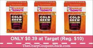 no black friday at target dunkin u0027 donuts cold brew coffee packs only 0 39 at target