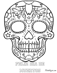 skull mandala coloring pages skull day of the dead coloring