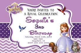 sofia birthday party invitations templates