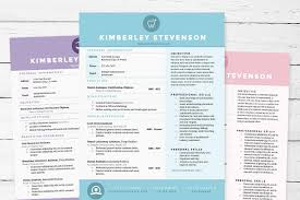Best Resume Colors by Resume 3pk Template Package Resume Templates Creative Market