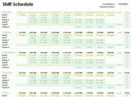 employee schedule template excel all about letter