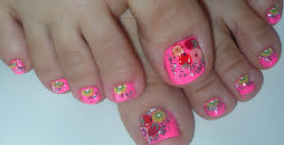 fimo tutti frutti summer toe nail design youtube
