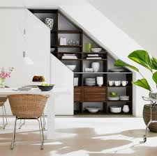 functional modern under stairs storage ideas modern dining room