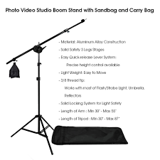 studio light boom stand photography photo studio lighting kit reflector light kit with boom