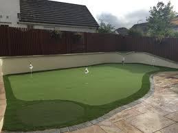 thistle all weather grass u2013 back garden artificial putting green