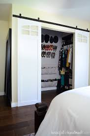 closet sliding barn doors build plans a houseful of handmade