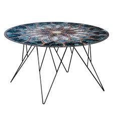 beistelltische 60x60 beistelltisch kazo glas metall blau schwarz 80 x 45 cm