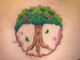 original multicolored tree shaped pacific symbol on back