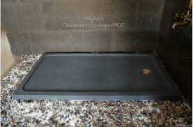 48 x32 granite shower base trendy gray palaos