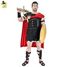 brave roman gladiator costume set medieval knight halloween mens