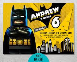 Superhero Invitation Card Lego Batman Invitation Lego Batman Birthday Lego Batman