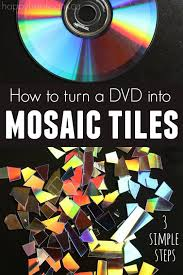 How To Make A Mosaic Table Top How To Make Mosaic Tiles From A Dvd Happy Hooligans