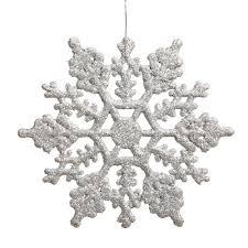 vickerman plastic glitter snowflake 4 inch silver